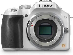 Panasonic Lumix DMC-G5 Digital Camera Body White (Body Only) (Kit Box)