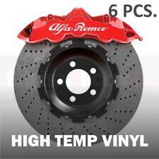 6 pcs Alfa Romeo Premium Brake Caliper Stickers decals 145 146 147 155 156 159