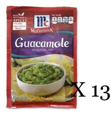 McCormick Guacamole Seasoning Mix 13 Total Packets Various Best by Dates