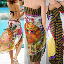 Womens Aztec Sun Pareo Dress Sarong Beach Bikini Swimwear Cover Long Scarf Wrap