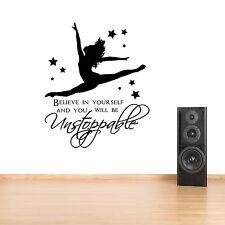 Gymnast Gymnastic,Girls Bedroom Quote, Vinyl Wall Art Sticker/Decal