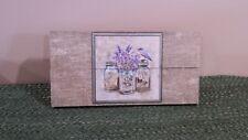 Bird on Garden Jars Self-Standing Crate Sign, Canning Jars, Seeds, Spring