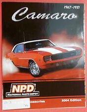 1967-1981 Camaro Parts And Accessories 2004 Edition National Parts Depot
