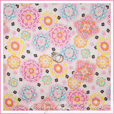 BonEful Fabric FQ Cotton Quilt Pink Flower Yellow Calico Lace Sm Dot Shabby Chic