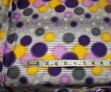BY THE YARD  POLY LYCRA 4W STRETCH GORGEOUS PURPLE/YELLOW BUBBLES PRINT NEW