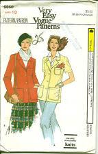 Vogue Pattern 9850, Stretch Knit Jackets, Vintage Early 1980's, Size 10, Uncut