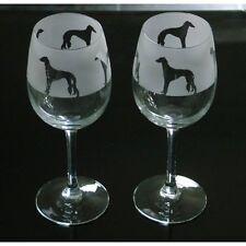 More details for saluki dog wine glasses classic tulip shape..boxed