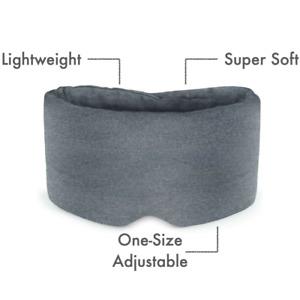 Premium Travel Eye Mask, Ultra Soft Skin Kind Comfortable Sleep Light Grey
