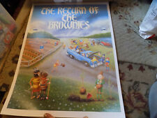 Vtg Rare Brownies Martha Heller Palmer Cox Brownie Doll Signed Limited Poster