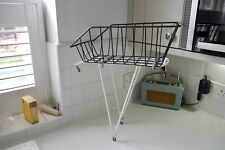 Vintage Steel Rear Pannier Rack And Adie Basket