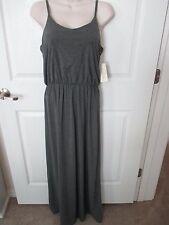 NWT - SONOMA Gray knit maxi dress w/adjustable straps - MSRP $50.00 - sz Small