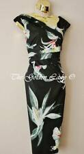 KAREN MILLEN BLACK TULIP FLOWER WIGGLE EVENING DRESS  Size 14 *Shoes & Bag Lstd