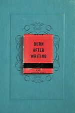 Burn After Writing.by Jones  New 9780399175213 Fast Free Shipping<|