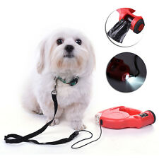 5M Retractable Dog Leash With Light LED Bags Flexi Leash For Small Medium Dogs