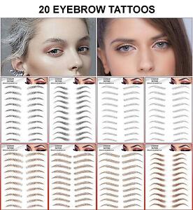 6D Eyebrows Tattoo Real Look False Eyebrow Waterproof Stick On Makeup Make Up UK