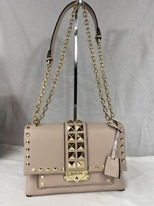 Michael Kors Cece Studded Leather Convertible Chain Shoulder Bag NWT $458 Pink