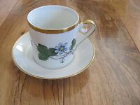 Hackefors Porslin-Anemone Hepatica-Blue Violets-Demitasse Cup & Saucer(s)-6 Avl