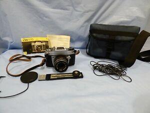Vintage IHAGEE DRESDEN EXA 500 60s GERMAN 35mm Photo Camera Meyer-Optik Domiplan