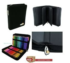 THORNTON'S ART SUPPLY Canvas Zippered Case 150 Pencil Slots Drawing Color Holder