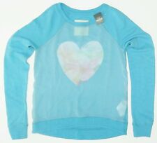 New Hollister Harbor Cove Graphic Sheer Front Sweatshirt Womens Size X Small