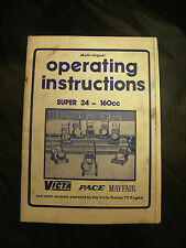 Old Victa Mowers SUPER 24 - 160CC OPERATING INSTRUCTIONS