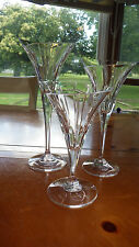 Clear Lead Crystal Graduated Candle Holders taper Candles Asymmetrical flared