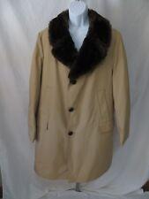 Vintage Northern Aire Mens Size XL 46 Goose Down Coat Jacket Faux Fur Collar EC