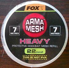FOX ARMA MESH HEAVY 22mm PROTECTIVE HOOKBAIT MESH REFILL CPV028 NOT PVA 7 METRES