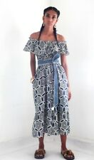 Authentic BANJANAN Cocoa Dress Size XS  Lozenge Wheel Navy $250 SOLD OUT NWT