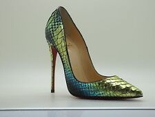$1495 Christian Louboutin So Kate 120 Python Aquarium Mimosa Pump Shoes 36/ 5.5