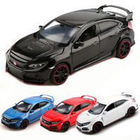 1:32 Scale Honda Civic Type R Model Car Diecast Vehicle Gift Toy Kids Pull Back