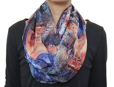 Free Shipping to US Hand Made Van Gogh Cafe Terrace Infinity Chiffon Scarf