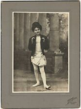 Happy New Year! Young Texas Man in Top Hat & Diapers Victorian Cabinet Card