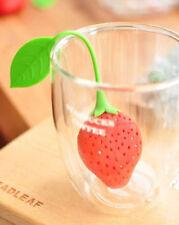 Infuseur Boule à Thé en Silicone Alimentaire forme de Fraise pour Tasse Théière