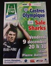 Affiche RUGBY - H CUP - saison 2005-2006 - CASTRES OLYMPIQUE / SALE SHARKS