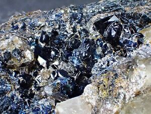 LAZULITE and QUARTZ RARE Fine Crystals  Mineral Specimen Yukon, Canada