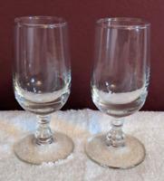 Cordial Glass 2pc Set Stemware Vintage