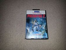 Predator 2 Sega Master System Game, Cleaned and Tested, Missing Manual