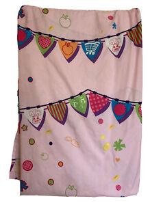 "Shopkins Twin Flat Sheet Pink Multicolor 8'x 5'5"""
