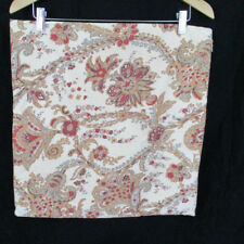 Pottery Barn 18 x 18 Pillow Sham Tan Red Green Paisley Cotton