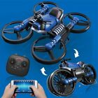 2.4G Folding 2in1 RC Drone Deformation Motorcycle With 650ma Battery Aerial