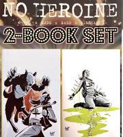 NO HEROINE 2 & 3 VIRGIN LTD 50 COPIES 1 Two Book Set