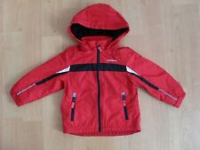 Boys London Fog hooded fleece jacket in red/black, size 2-3 yrs