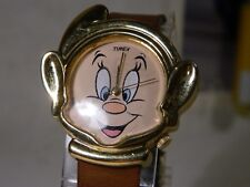 RARE Timex Disney Licensed Snow White Happy the Dwarf Metal Watch. New Battery