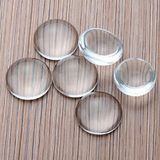Novelty 10pcs 8-25MM Transparent Clear Round Shape Flatback Domed Glass Cabochon