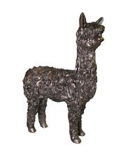 More details for alpaca standing bronze figure frith sculpture vb002 veronica ballan ornament