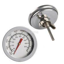 1pc BBQ Smoker Grill Stainless Steel Thermometer Gauge Temp Barbecue Cook CA