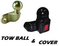 Towball & Cover Boot with Reflector Tow Bar Ball with Protector Boot Cap