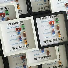 Personalised Superhero Daddy/Grandad Frame Perfect Gift Fathers Day/Birthday