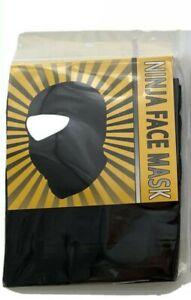 BLACK NINJA FULL FACE MASK SPORT TACTICAL COSPLAY HAT